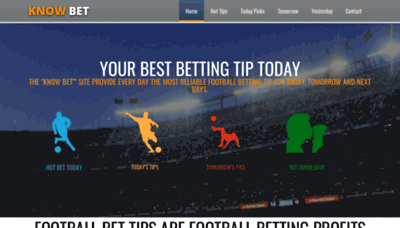 What Know.bet website looked like in 2020 (1 year ago)