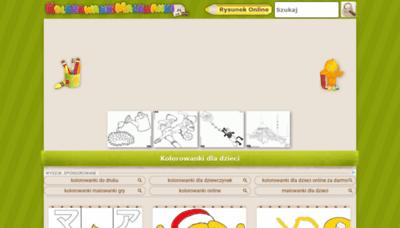 What Kolorowankimalowanki.pl website looked like in 2020 (This year)