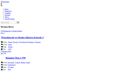 What K.dramaindo.my.id website looked like in 2020 (This year)