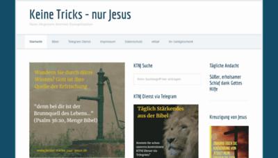 What Keine-tricks-nur-jesus.de website looked like in 2020 (This year)