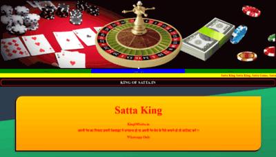 What Kingofsatta.in website looks like in 2021