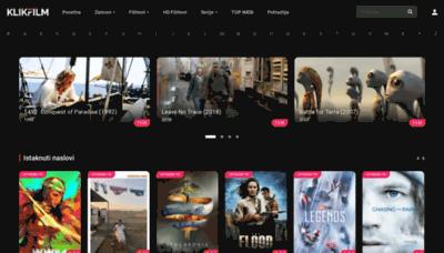 What Klikfilm.org website looks like in 2021