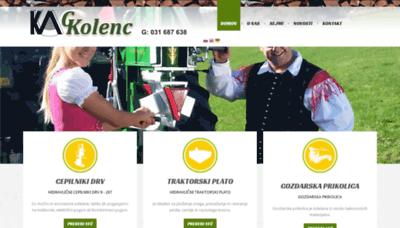What Kolenc-skofljica.si website looks like in 2021