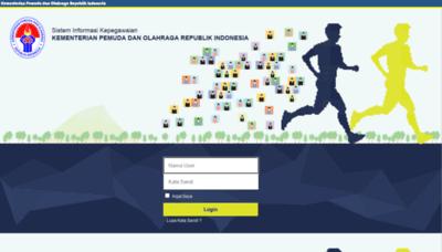 What Kepegawaian.kemenpora.go.id website looks like in 2021