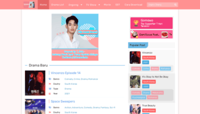 What K.dramaindo.my.id website looks like in 2021