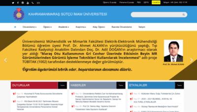 What Ksu.edu.tr website looks like in 2021