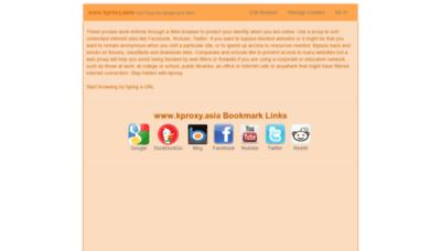 What Kproxy.asia website looks like in 2021