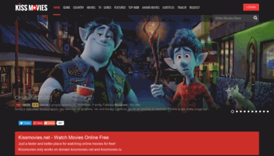 What Kissmovies.net website looks like in 2021