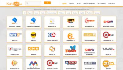 What Kurdtvs.net website looks like in 2021