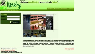 What Lizard.uteq.edu.mx website looked like in 2016 (5 years ago)