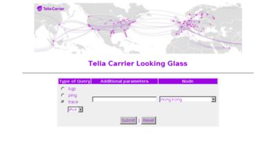 What Looking-glass.telia.net website looked like in 2016 (5 years ago)