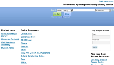 What Library.kyu.ac.ug website looked like in 2016 (4 years ago)