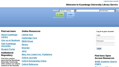 What Library.kyu.ac.ug website looked like in 2017 (4 years ago)