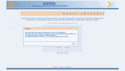 What Live.adsol.co.za website looked like in 2018 (3 years ago)