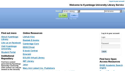 What Library.kyu.ac.ug website looked like in 2018 (3 years ago)