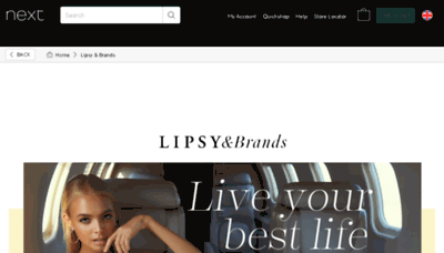 What Lipsy.co.uk website looked like in 2018 (3 years ago)