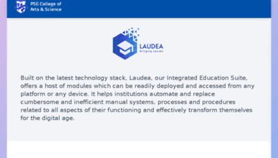 What Laudea.psgcas.ac.in website looked like in 2018 (3 years ago)