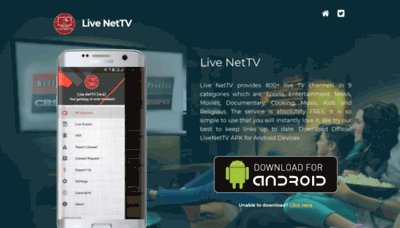 What Livenettv.xyz website looked like in 2018 (2 years ago)
