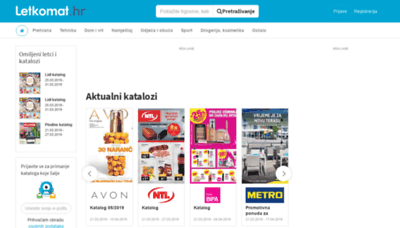 What Letkomat.hr website looked like in 2019 (2 years ago)