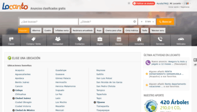 What Locanto.com.mx website looked like in 2019 (2 years ago)