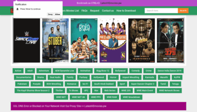 What Latesthdmovies.pw website looked like in 2019 (1 year ago)