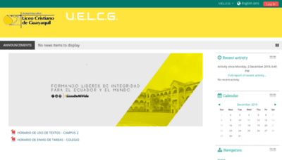 What Liceocampusvirtual.net website looked like in 2019 (1 year ago)