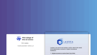 What Laudea.psgcas.ac.in website looked like in 2019 (1 year ago)