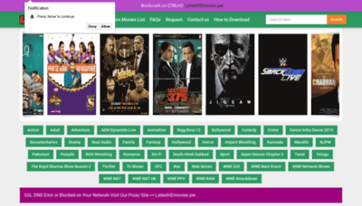 What Latesthdmovies.pw website looked like in 2020 (1 year ago)