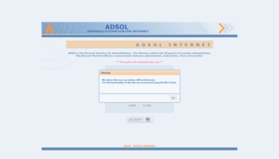 What Live.adsol.co.za website looked like in 2020 (1 year ago)
