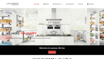 What Laranza.in website looked like in 2020 (1 year ago)