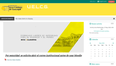 What Liceocampusvirtual.net website looked like in 2020 (1 year ago)