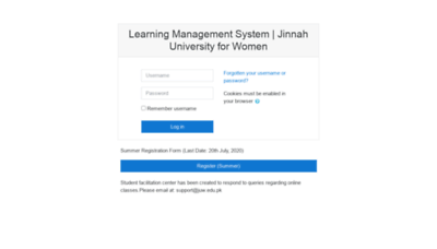 What Lms.juw.edu.pk website looked like in 2020 (1 year ago)