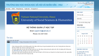 What Lms.ussh.edu.vn website looked like in 2020 (This year)