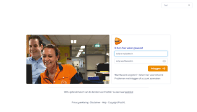 What Loginpostnl.net website looked like in 2020 (This year)