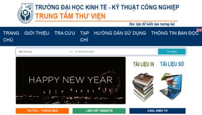 What Lib.uneti.edu.vn website looks like in 2021
