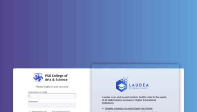 What Laudea.psgcas.ac.in website looks like in 2021
