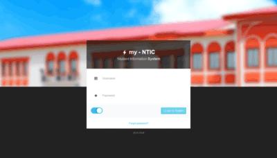 What Lotus.ntic.edu.ng website looks like in 2021