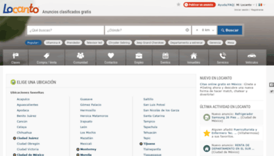 What Locanto.com.mx website looks like in 2021