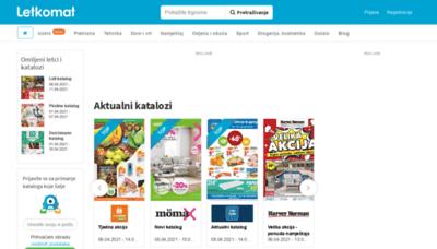 What Letkomat.hr website looks like in 2021