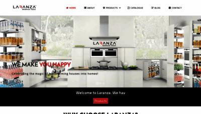 What Laranza.in website looks like in 2021