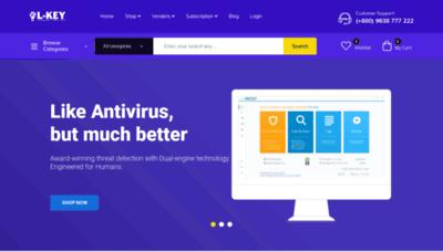 What Lkey.info website looks like in 2021