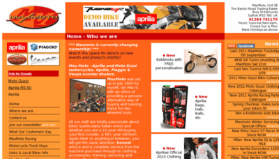 What Maxmoto.co.uk website looked like in 2012 (8 years ago)