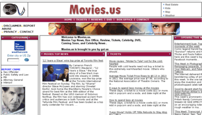 What Movies.us website looked like in 2014 (7 years ago)