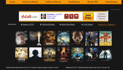 What Movie4u.in website looked like in 2014 (7 years ago)