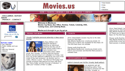 What Movies.us website looked like in 2015 (6 years ago)