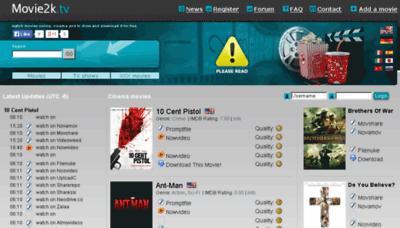 What Movie2k.cm website looked like in 2015 (5 years ago)