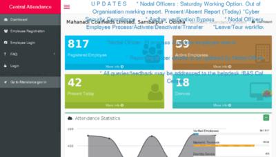 What Mclsbp.attendance.gov.in website looked like in 2016 (5 years ago)