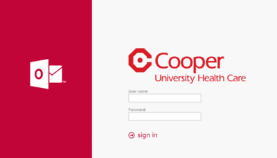 What Mail.cooperhealth.edu website looked like in 2016 (5 years ago)