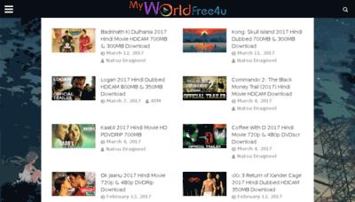 What Myworldfree4u.me website looked like in 2017 (4 years ago)