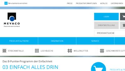 What Mevaco.de website looked like in 2017 (4 years ago)